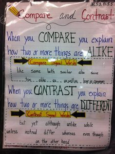 anchor chart paring contrasting two stories  Google
