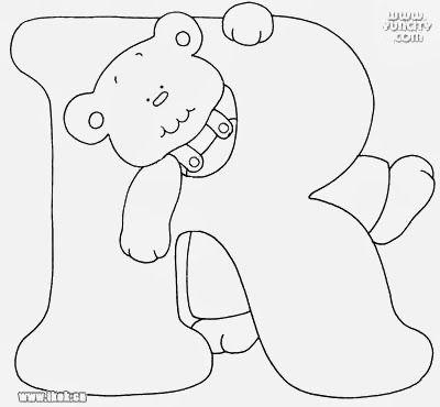 Alfabeto Com Ursinhos Para Pintar Com Imagens Desenhos