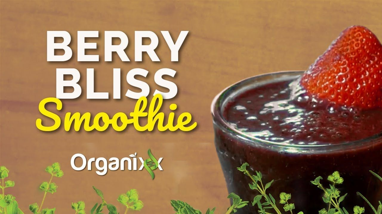 """Easy and Fun Summer Smoothie Recipe: There is a reason why the word """"Bliss"""" is in this smoothie. Not only is the taste absolutely heavenly but the bang of berries you get in this smoothie is fantastic for your health. Click through to watch this recipe video from Organixx. Try this ASAP! Yum. Don't forget to share this recipe with someone you like... a lot. They'll love you for it. Enjoy!"""