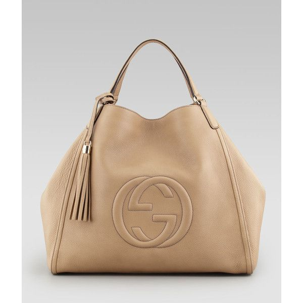 Gucci Soho Large A-Shape Hobo Bag, Cream ($2,240) | Fav Bag Brand ...