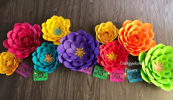 Fiesta Paper Flower Backdrop/Birthday Party Decor / Large Paper Flower Decor, Fiesta Party Decor/Fiesta Paper Flowers Backdrop #largepaperflowers