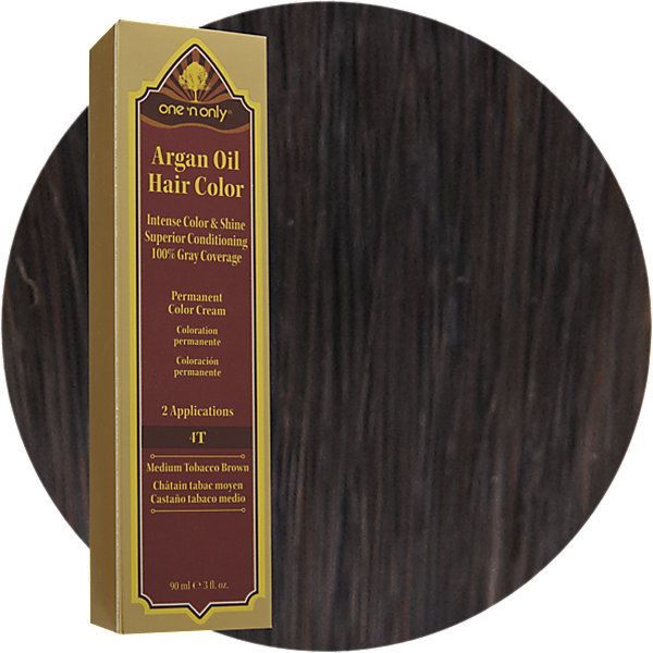 17T Medium Tobacco Brown Permanent Cream Hair Color | Argan oil ...