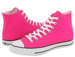 Hot Pink Converse Hightops | Prom shoes