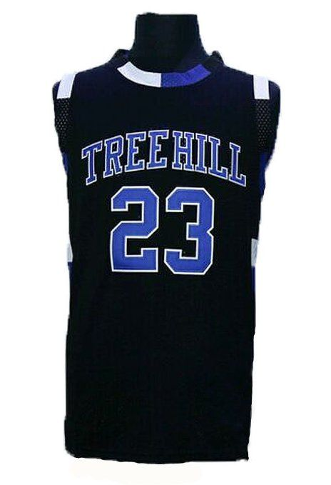 02820b428e4a Amazon.com   Mens One Tree Hill Movie  23 Lucas Scott Basketball Jersey  Embroidered and Stitched white black S to XXXL   Sports   Outdoors
