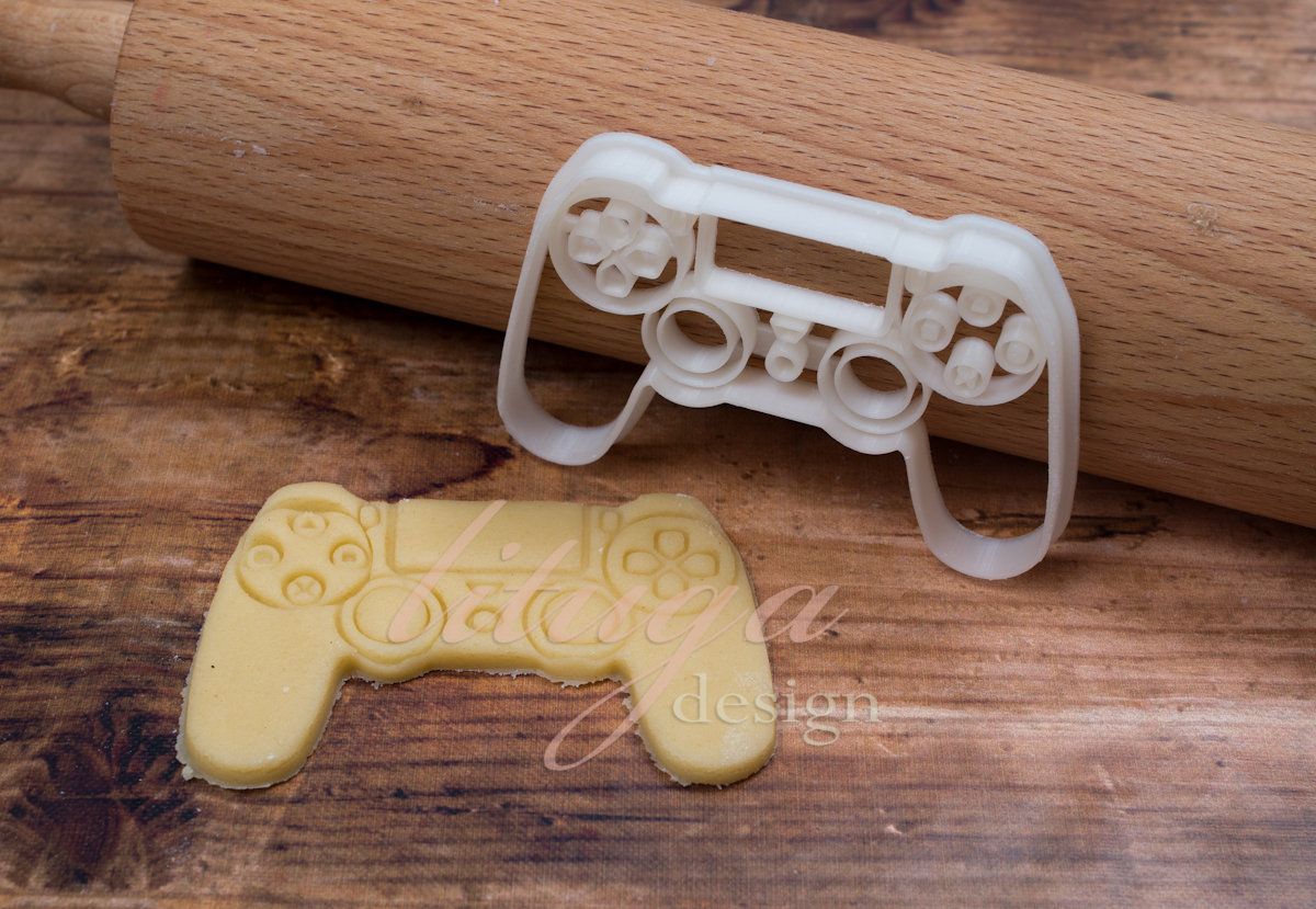 PS4 controller cookie cutter, Game controller cookie