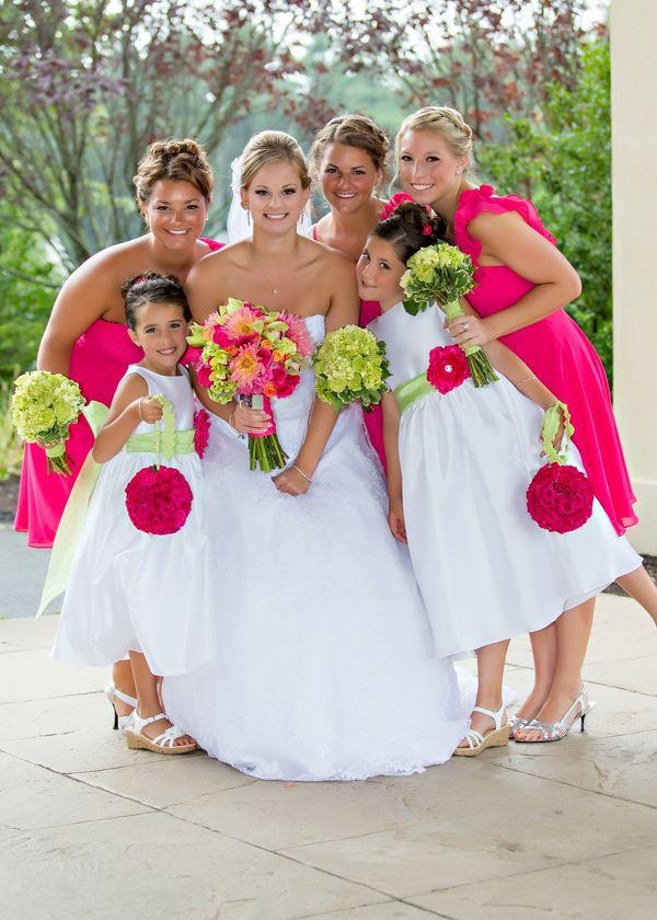 Lime Green And Hot Pink Massachusetts Wedding Lime Wedding Pink Wedding Theme Pink Green Wedding