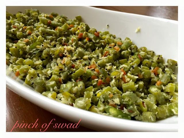 ++++++Pinch+Of+Swad:+Green+Beans+Upkari+(dry+vegetable+curry)