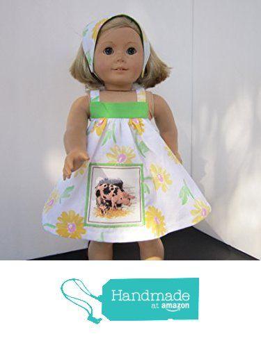 4H Farmgirl Mama & Baby Pig Sundress + Reversible Head Scarf fits American Girl from Pawprint Pals https://www.amazon.com/dp/B06WP1JDBW/ref=hnd_sw_r_pi_dp_Od8MybM0ST492 #handmadeatamazon
