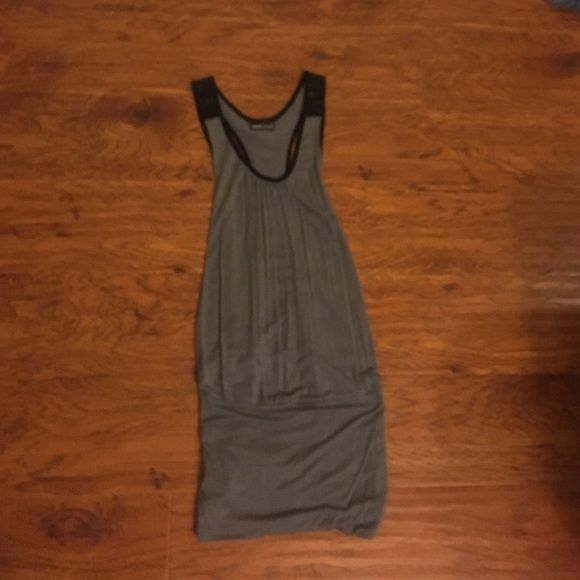 Lace dress Gray dress with black lace. Open in the back, tighter around legs Wet Seal Dresses Mini