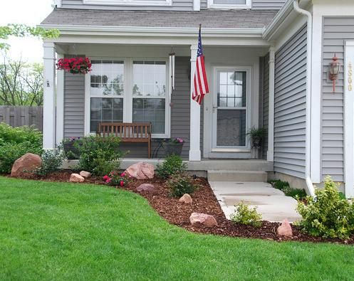 Townhouse landscaping on pinterest for Front yard designs