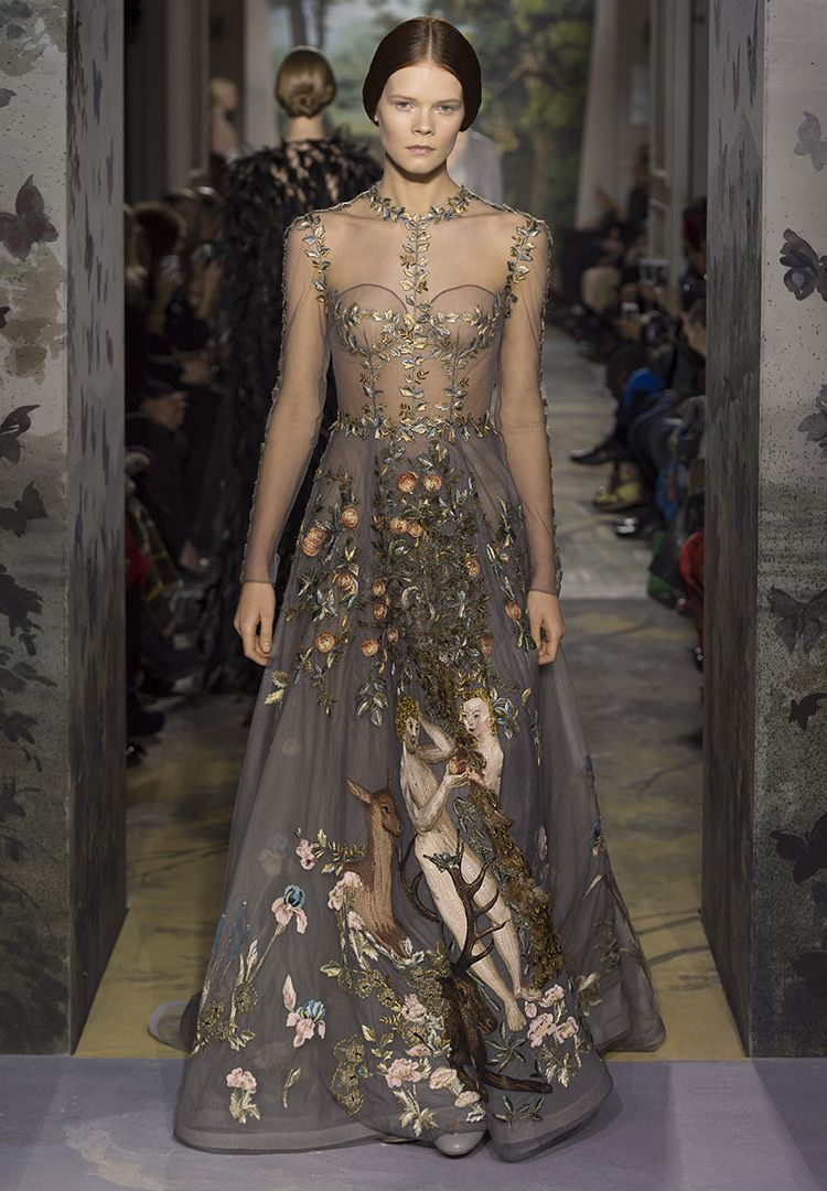 Haute Couture | Valentino Stunning embroidery depicting Adam and Eve ...