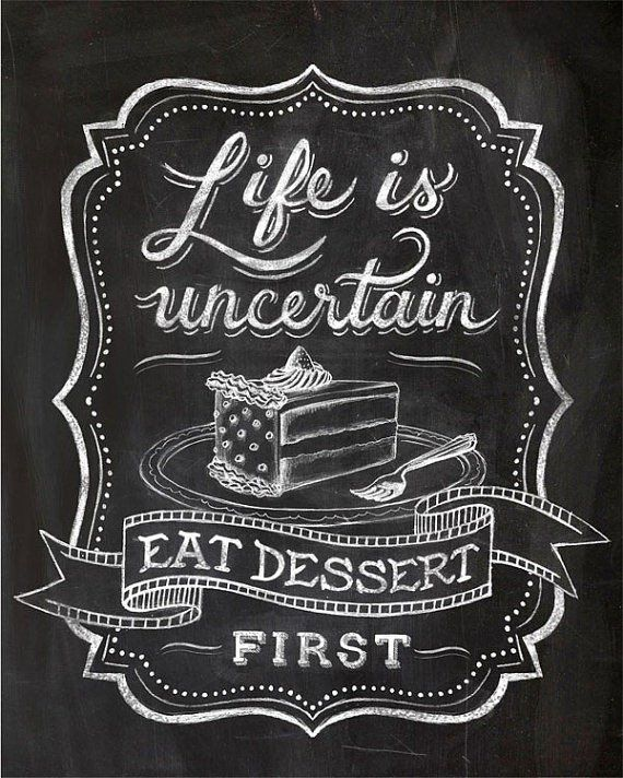 Kitchen Poster Food As Alphabet With Food Name: Blackboard Art, Chalkboard