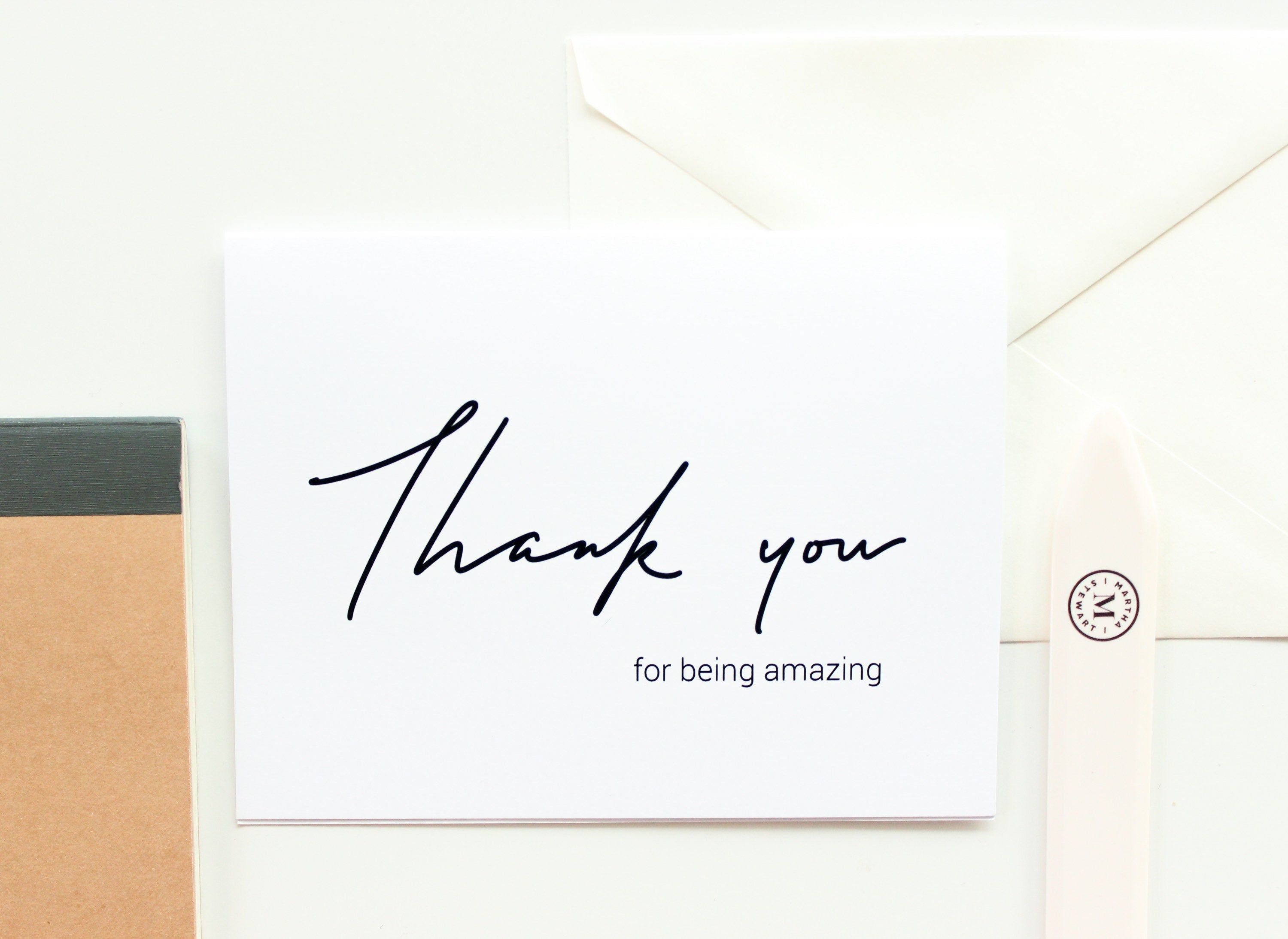 Download Thank you for being amazing, thank you card, simple thank ...