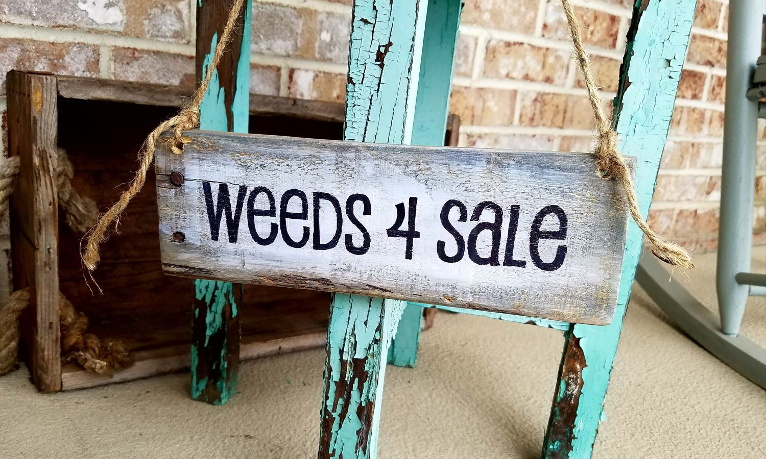 Garden decorations for sale - Weeds 4 Sale Rustic Garden Sign Cute Garden Art Flower Bed Flower Pot