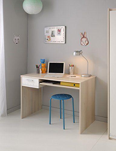 Parisot 2498bure Bureau Charly Acacia Clairblanc Bois Bureaux Et