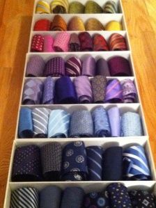 Great Way To Organize Ties Container Store Silk Drawers My Fashion Passions
