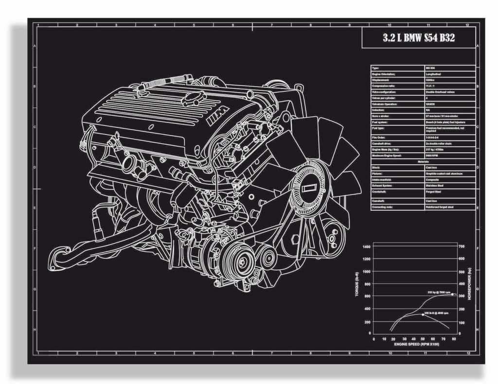 one of my favorite engines bmw e46 m3 s54 b32 engine engraved bmw e30 engine diagram art bmw engine diagram [ 1024 x 790 Pixel ]