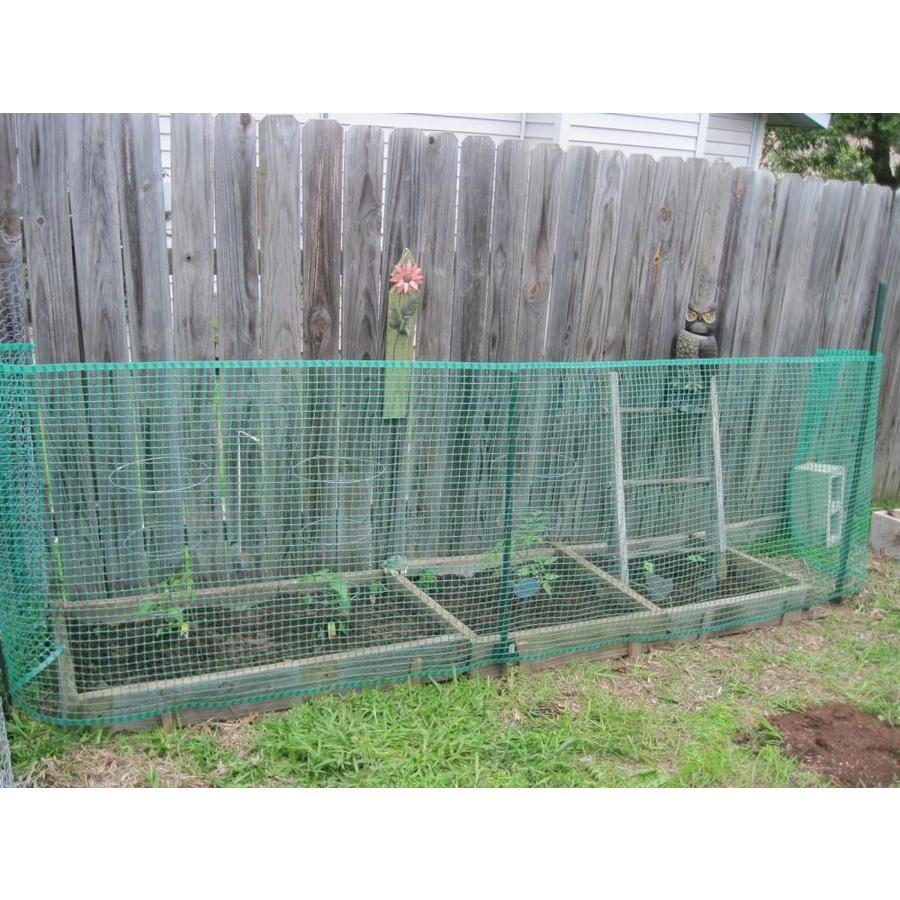 Boen 40 Inx25 Ft Green Plastic Garden Fence Gf 50001 In 2020