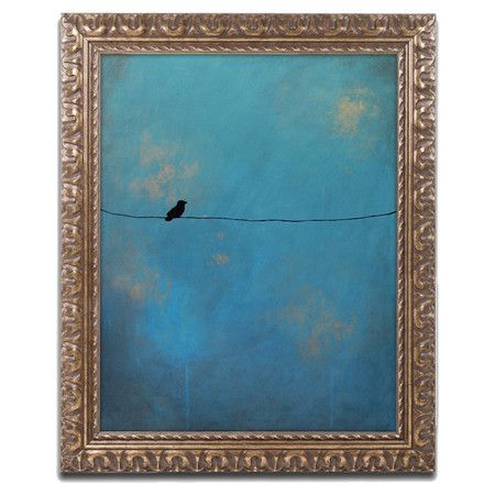 Showcasing a bird-inspired motif, this artful framed print is a charming addition to your foyer or gallery wall.    Product: Fr...