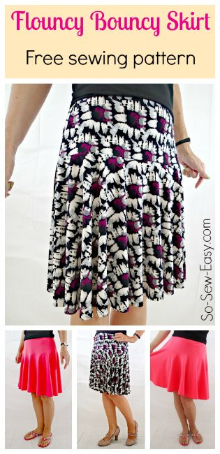 Free Skirt Pattern The Flouncy Bouncy Skirt Free Sewing Patterns