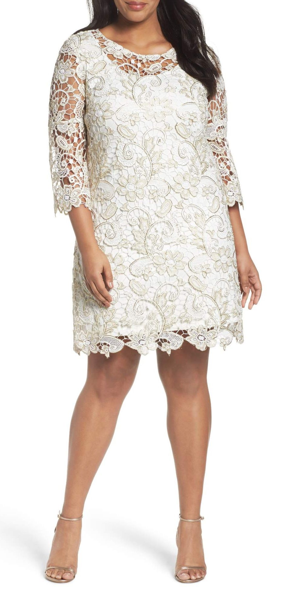 Plus Size Bell Sleeve Lace Shift Dress Lace Shift Dress Plus Size Cocktail Dresses Dresses With Sleeves [ 1976 x 961 Pixel ]
