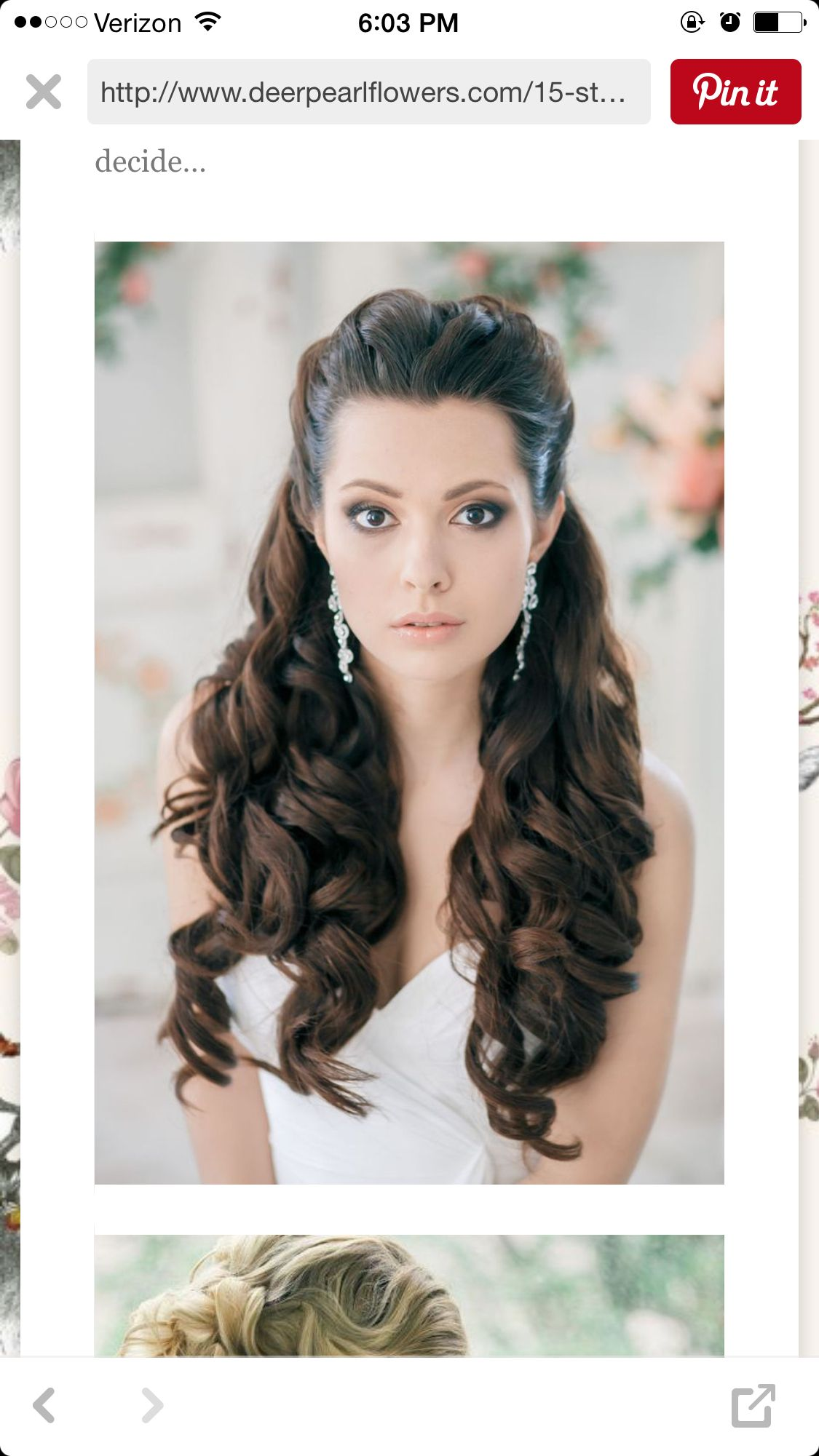 I love this hair and make up look Definitely what I want to go for
