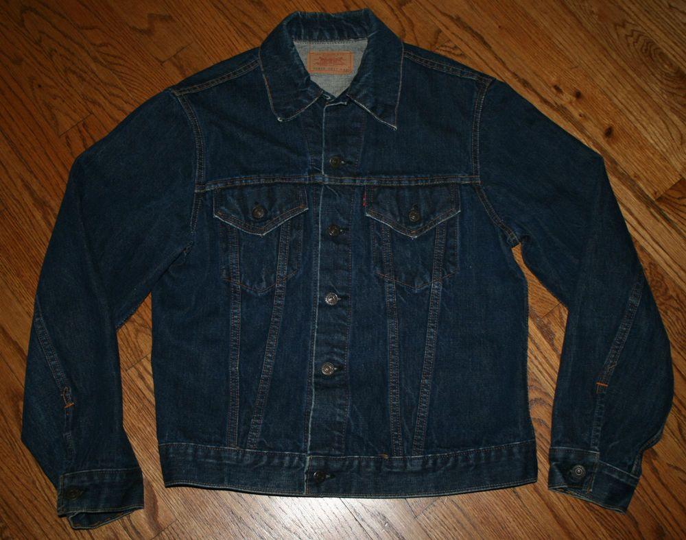 Levi Strauss Denim Jean Jacket Big E Men 42 Levi S 70505 0217 Rockabilly Trucker Levis Jeanjacket Denim Coat Jacket Tall Jeans Mens Big And Tall [ 788 x 1000 Pixel ]