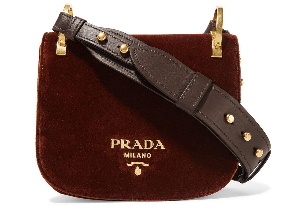 ba30dffa28f7 Bag of the Week  Prada Pionnière Velvet Saddle Bag