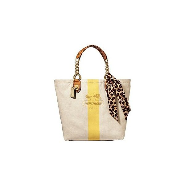 Macy S Coach Resort Beach Tote Found On Polyvore Featuring Bags Handbags Purses Accessories