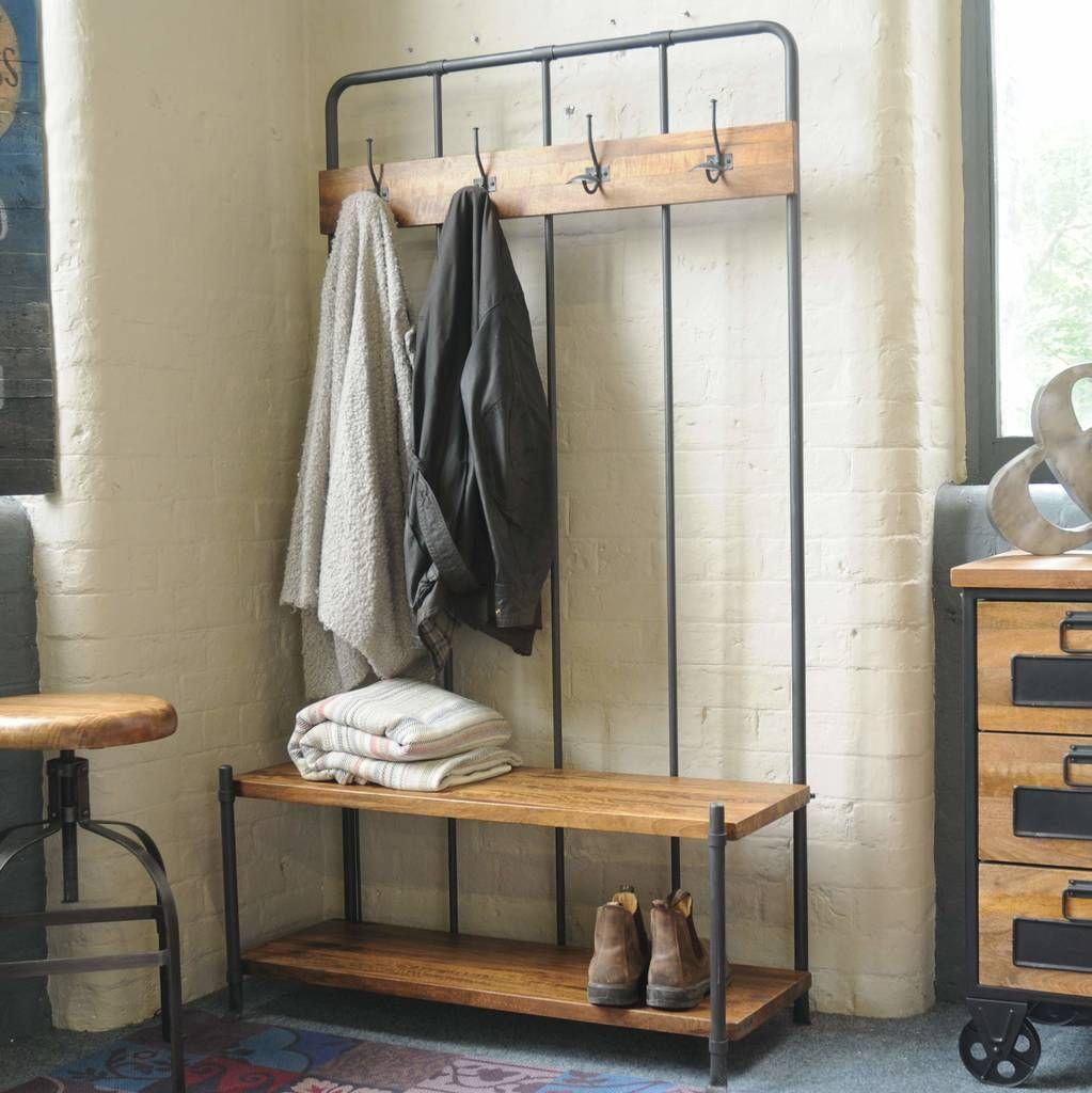 Industrial Vintage Cloakroom Bench In 2020 Home Furniture Online Furniture Hallway Furniture