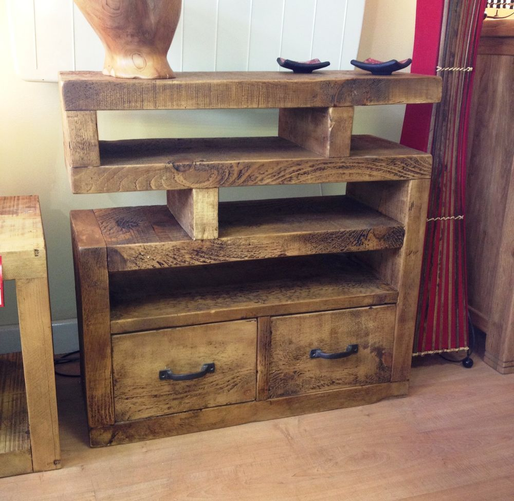 funky wood furniture. chunky funky solid wood tv unit stand cabinet rustic plankchoose size from 225 funky wood furniture