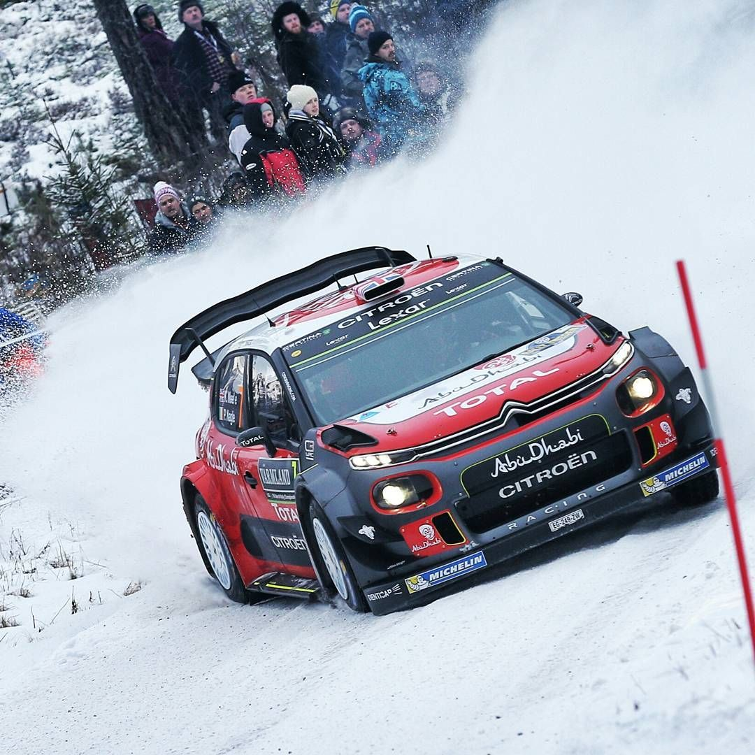 CitroenRacing WRC Kicking Up Snow. #Racing #Speed #Power
