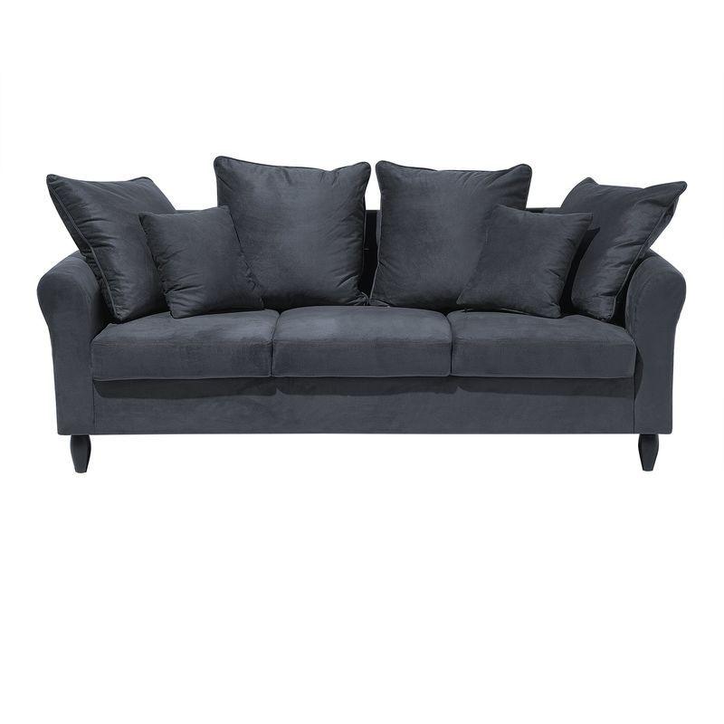 Canape 3 Places Gris Avec 6 Coussins 106269 Outdoor Sofa Sofa