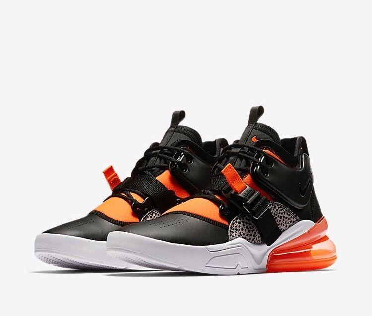 Nike Air Force 270 Size 14 AH6772-004 Black/Crimson Safari ...