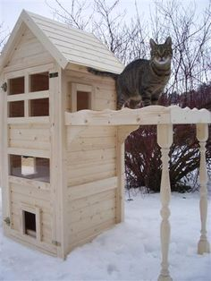 katzenhaus kratzbaum katzenturm pets pinterest cat houses cat and outdoor cats. Black Bedroom Furniture Sets. Home Design Ideas