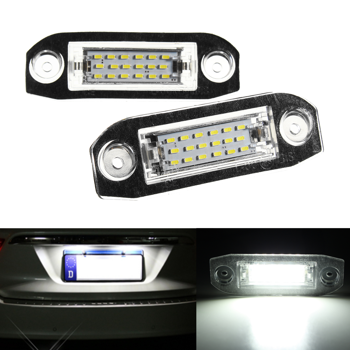 2x Led Licence Number Plate Light For Volvo C70 S40 S60 V50 V60 V70 Xc60 Xc90 Number Plate Volvo C70 Volvo