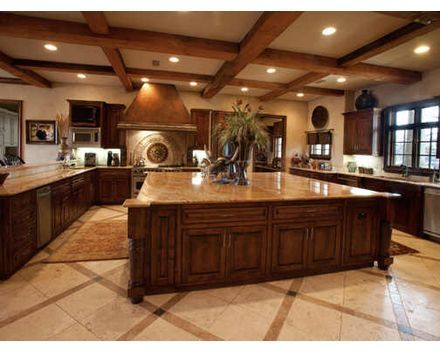Extra large kitchen island | Luxury kitchens, Large kitchen ...