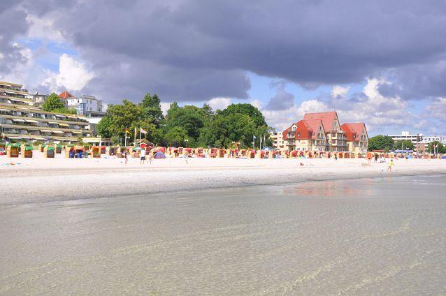 Blick auf die Promenade in Grömitz Urlaub, Reisen