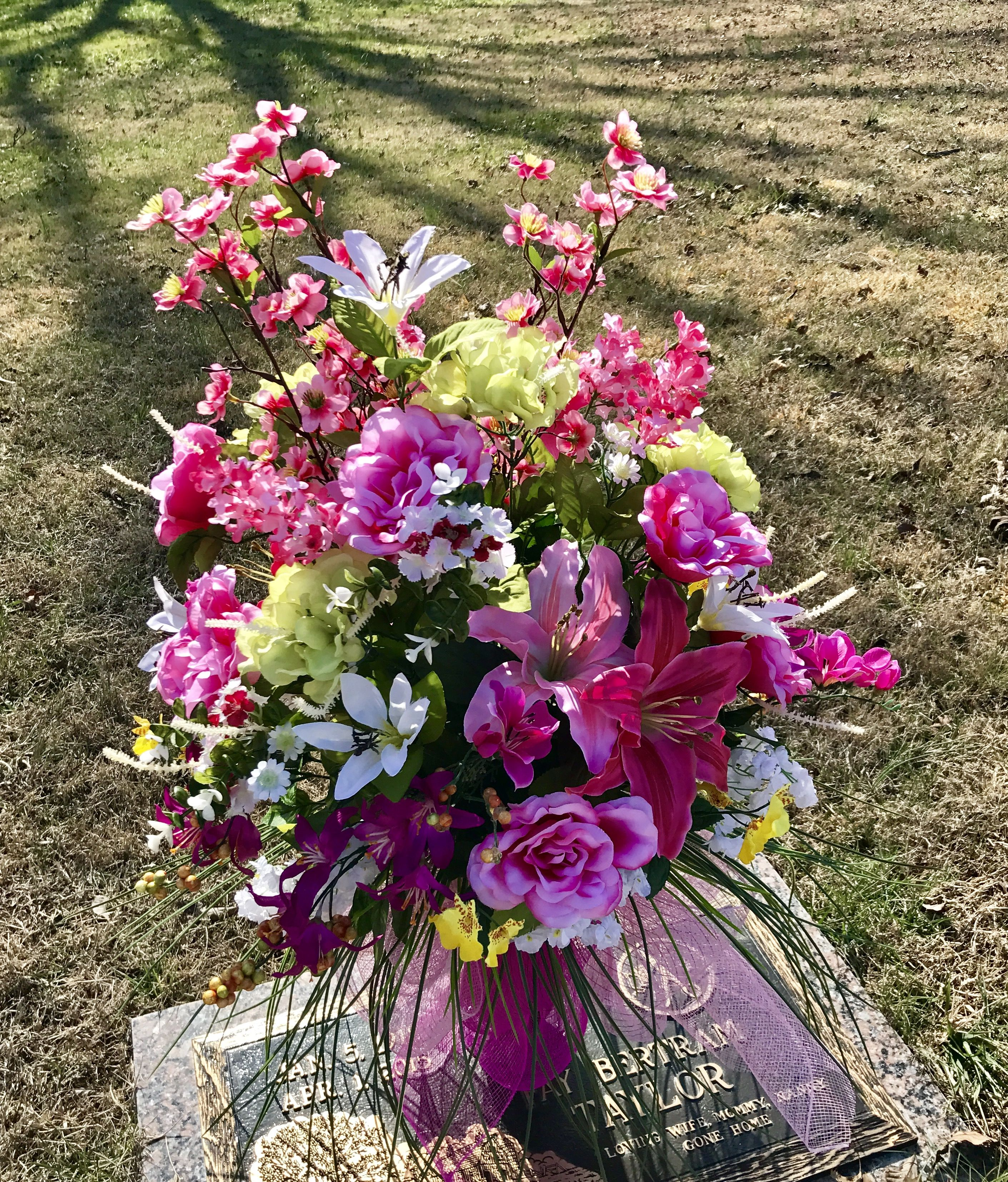 product artificial item flower may vary features cemetery flowers silver made pin vases vase hand plastic