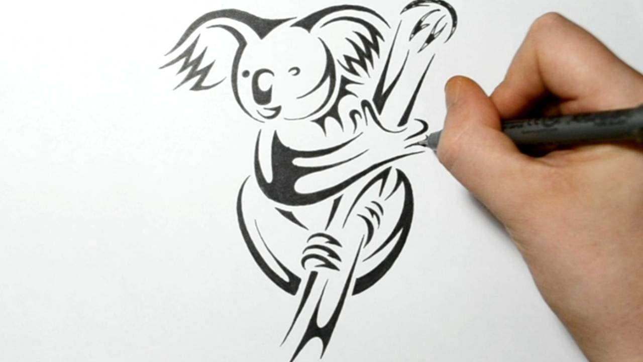 Drawing A Koala Bear Tribal Tattoo Design Style Tatoos Tribal