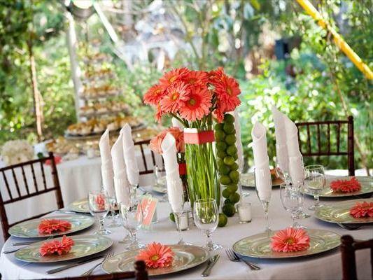 Coral Wedding Centrepieces With Flowers Centerpiece Even Decor