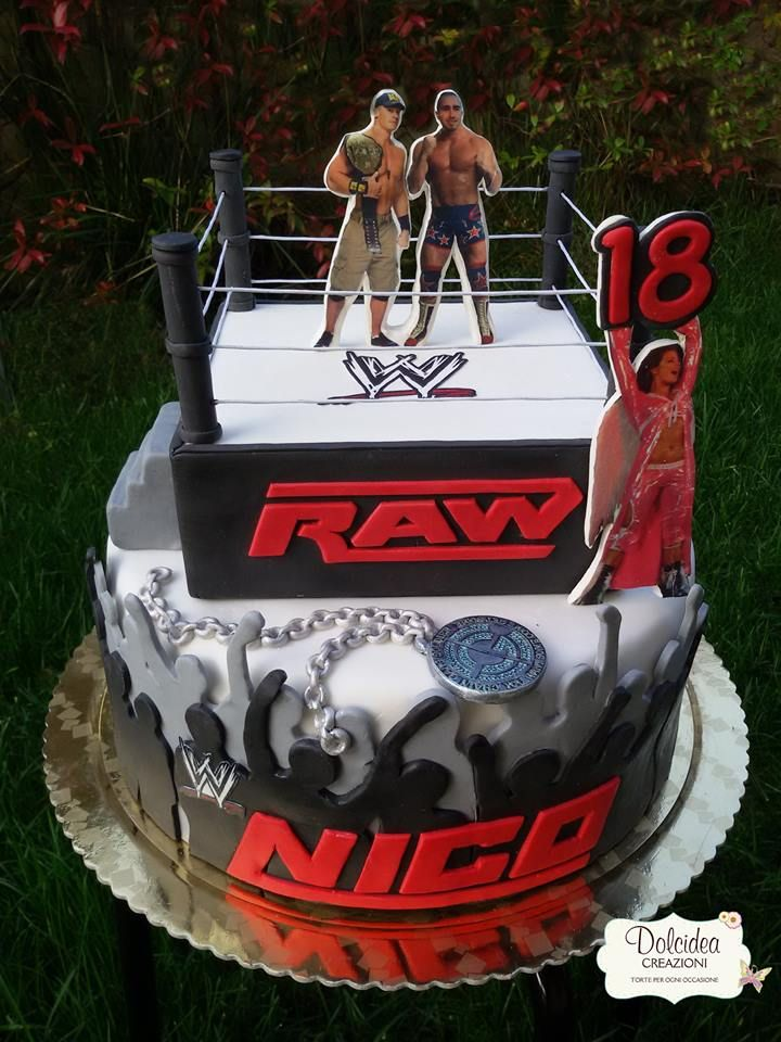 Security Check Required Wwe Birthday Cakes Wrestling Birthday Cakes Wrestling Cake
