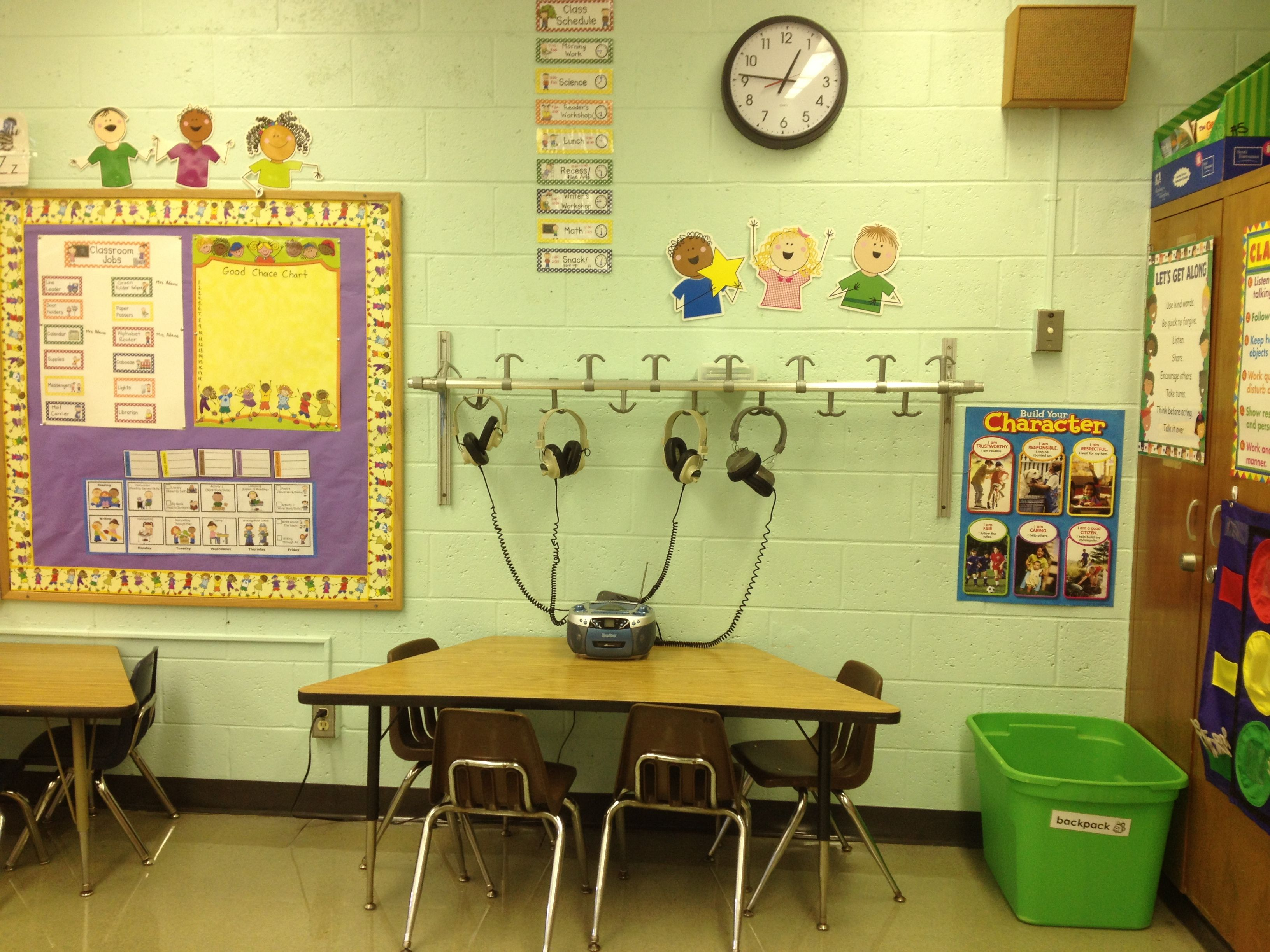 Kindergarten Classroom Listening Center