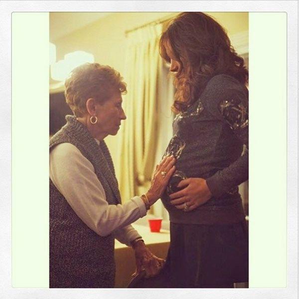 Danielle Jonas Shares Heartwarming Pic Of Grandma Holding Baby Bump