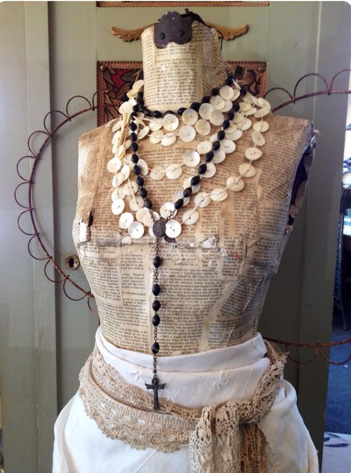 necklace with images vintage dress form mannequin on walls insulated coveralls on sale id=53418