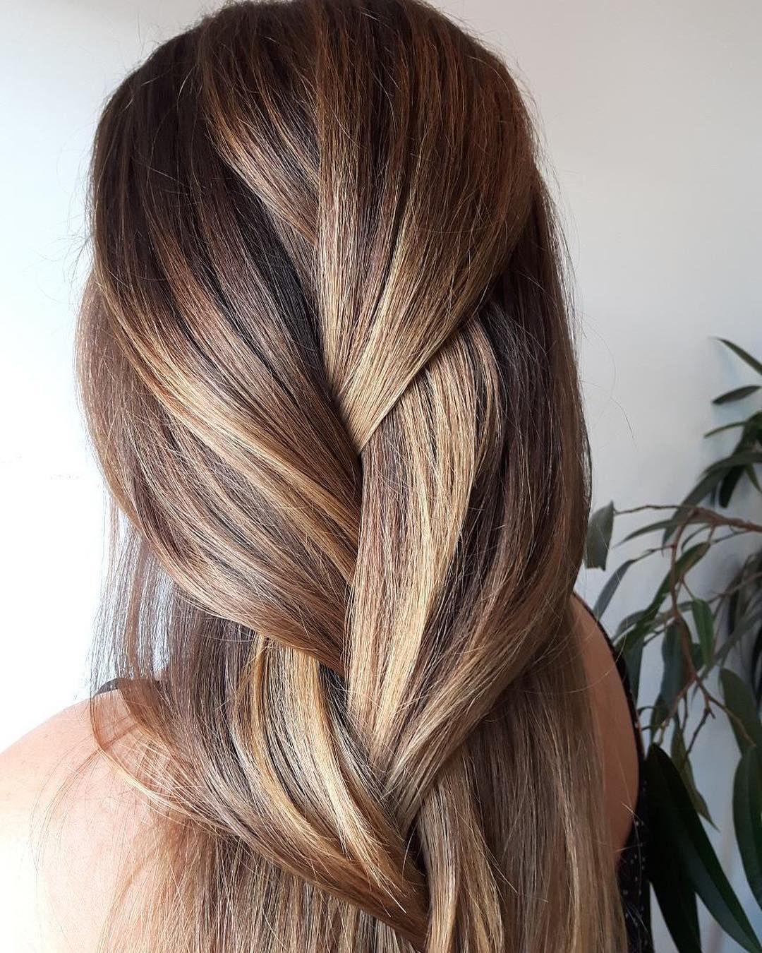 Playful loose big braid hairstyle by Aveda Artist Julia ...