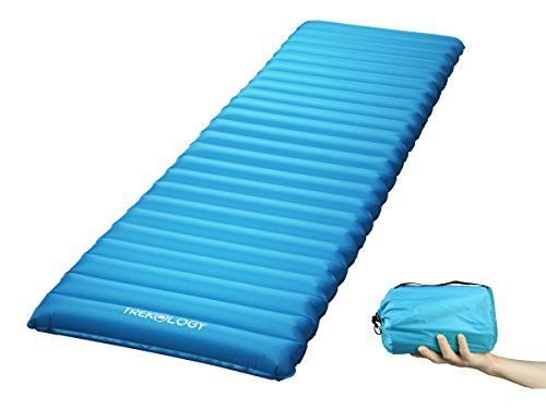 Ultralight Sleeping Pad Inflating Camping Mattress W Air Pump Dry Sack Bag Compact