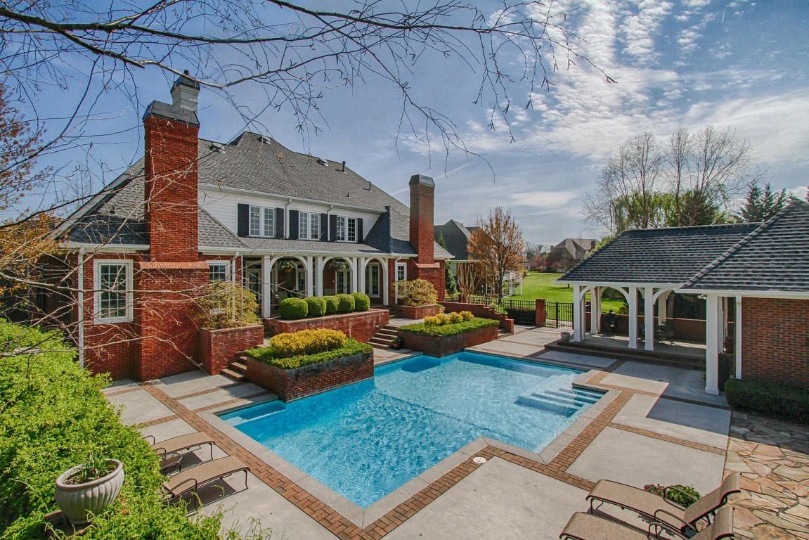 How amazing is this 27 000 gallon salt water pool for Pool design knoxville tn