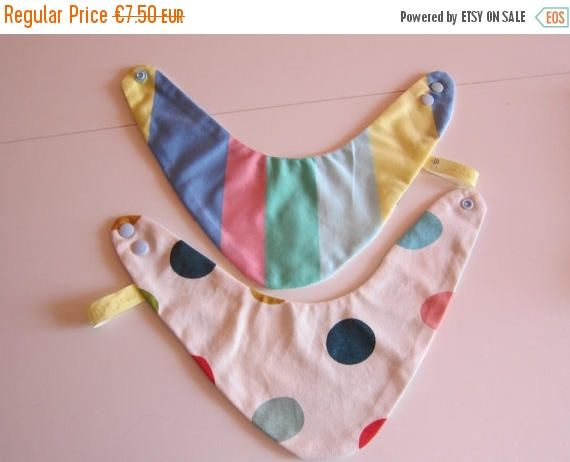 On Sale Reversible dotted striped bib for babies and children