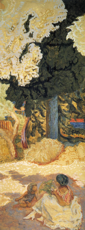 panel detail of The Mediterranean Triptych Pierre Bonnard